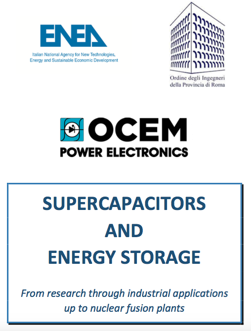 OCEM to Sponsor Conference on Supercapacitors and Energy Storage