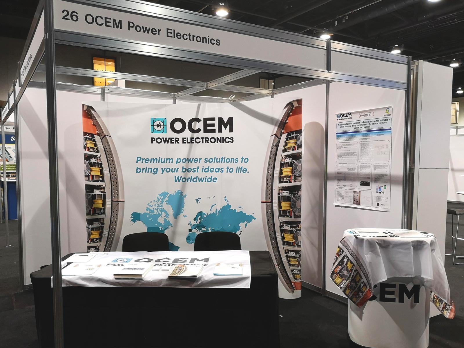 Visit OCEM Power Electronics sponsoring PTCOG 2019 in Manchester, UK!
