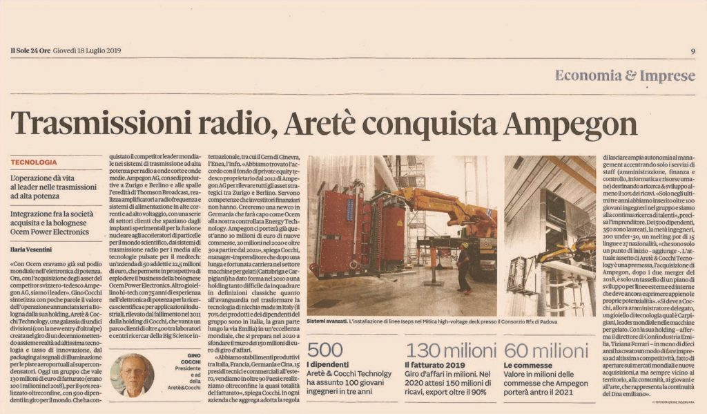 Il Sole 24 Ore article